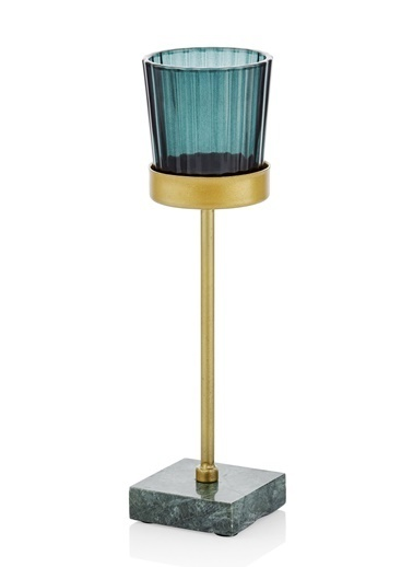The Mia Metal Tealight Mumluk Renkli 5x5x23.5 Cm Renkli